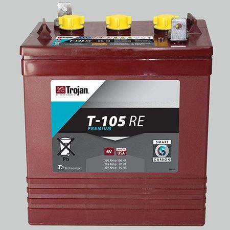 Trojan 6v Battery 225ah T105re Sonop Solar