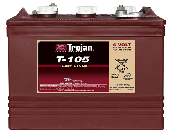 Trojan 6v Battery 225ah T105 Sonop Solar
