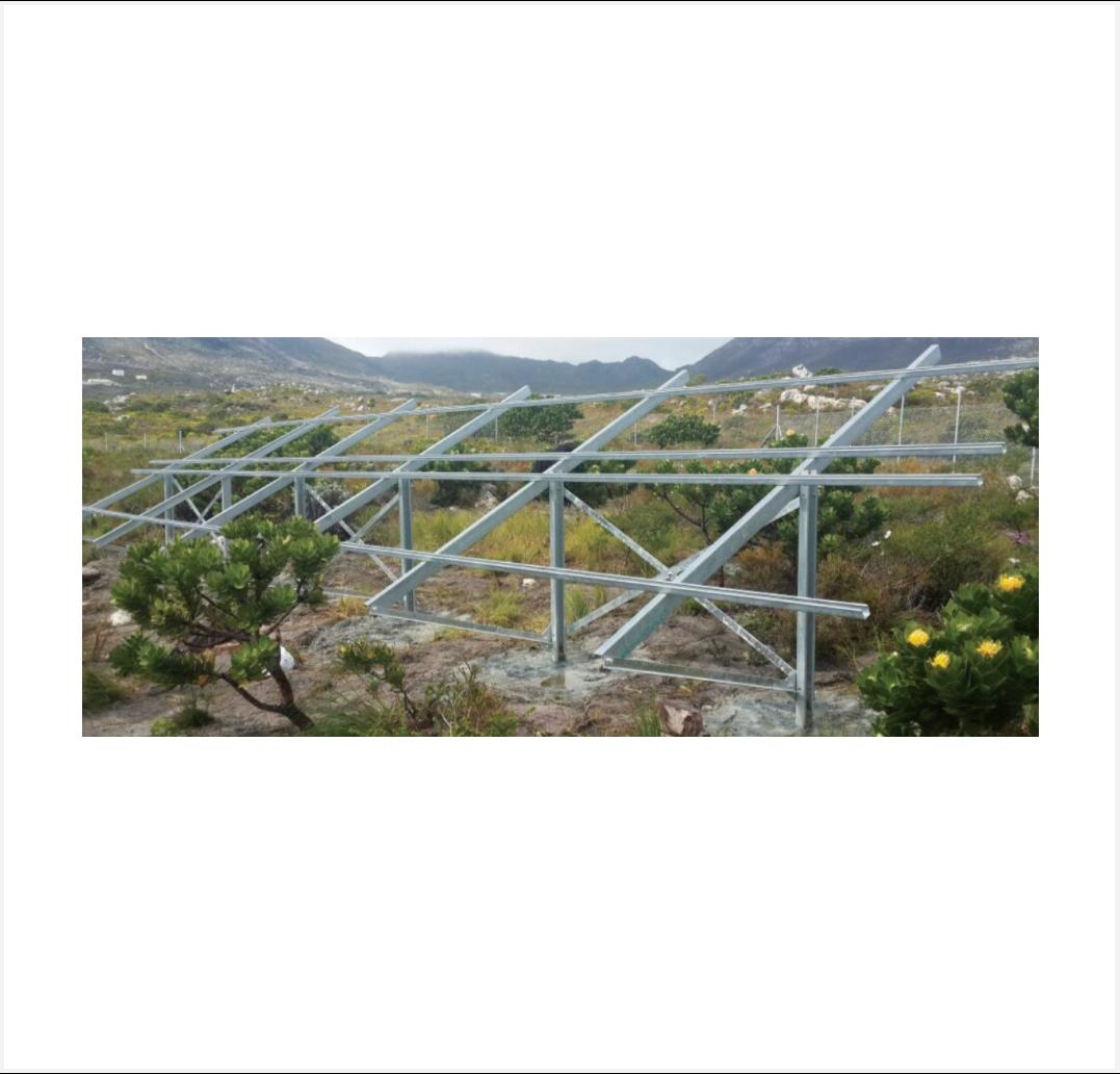 Solarstrut Ground Mount Structure 12 Pv Modules Sonop Solar