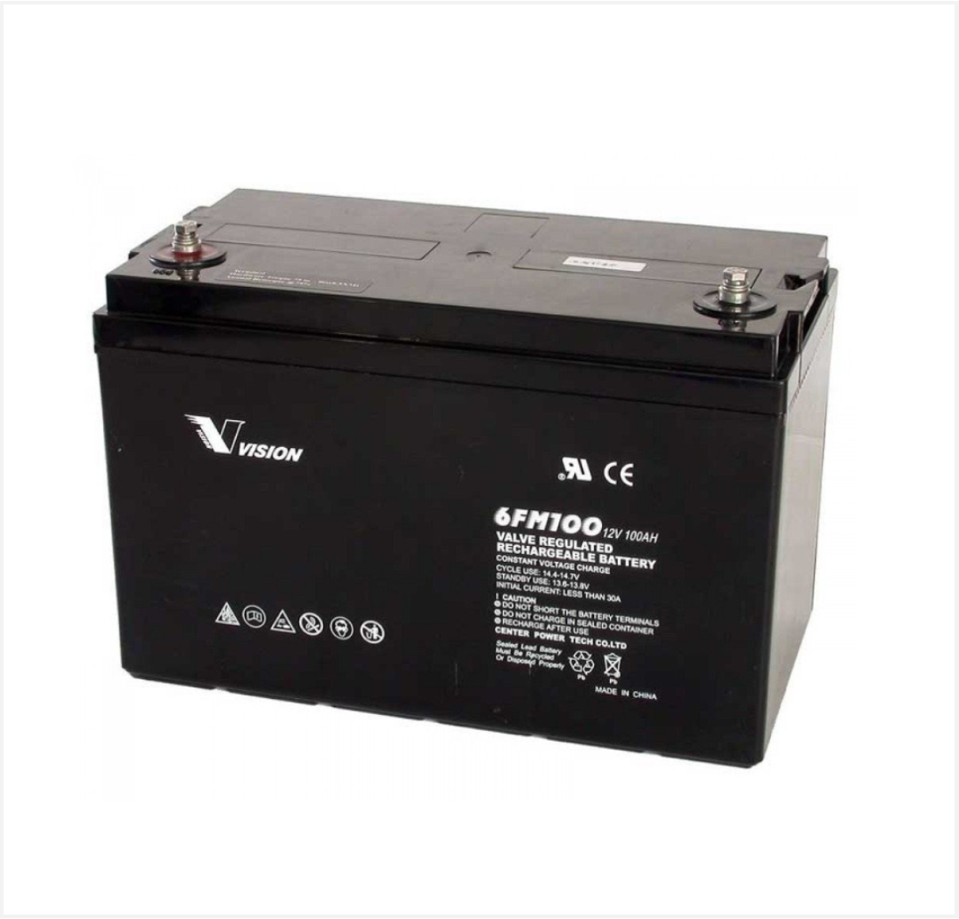 vision 12v 100ah agm battery sonop solar. Black Bedroom Furniture Sets. Home Design Ideas